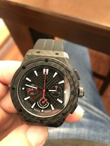 Real CARBON FIBRE manual hand wound watch
