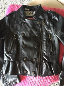 Faux Leather girls  jacket 7/8