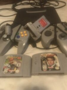 Nintendo 64 with 2 games and 2 controllers