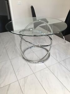 Stunning Glass and Chrome Kitchen table
