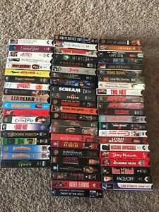 64 VHS video tape movie lot