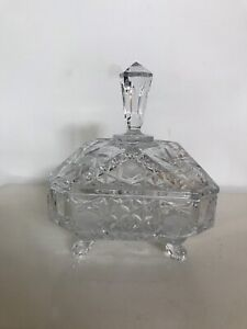 Pinwheel Crystal Covered Candy Dish