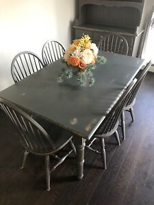 Rustic Dining Table - 6 chairs