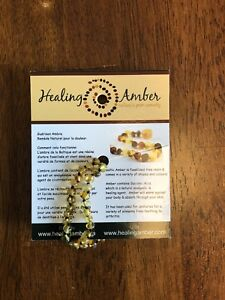 Amber teething necklace - new