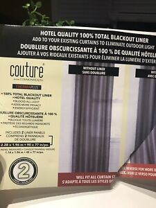 New White Blackout Liners for Curtains