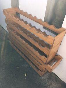 Wooden wine rack - set of 7 Strathfield Strathfield Area Preview