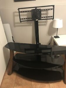 Media Stand with Removable TV Mount