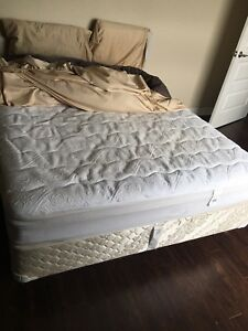 Queen size mattress + box spring(Sealy) | no bed bugs