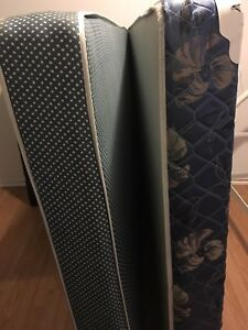 Boxspring and mattress (doubles bed)