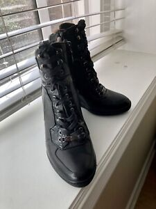 ***NANDO MUZI - Black Italian Leather Ankle Boots - worn once