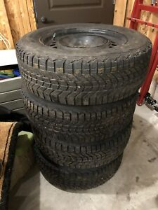 Firestone Studded Winter Tires/Rims - 235 65 R17