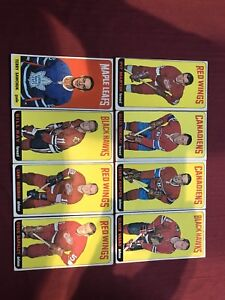 1964-65 TOPPS TALLBOY HOCKEY CARDS. SERIES 1. PARTIAL SET.