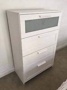 White IKEA tall boy / chest of drawers / dresser Woolloomooloo Inner Sydney Preview