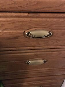 2 wood bedside tables