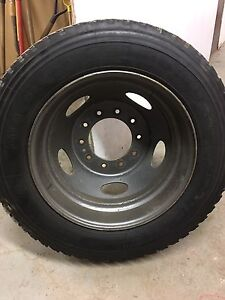 Tire and rim, 225/70/19.5