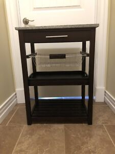 Granite Top Microwave Cart / Stand
