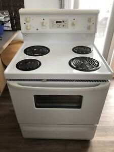 white stove, electric, everything works