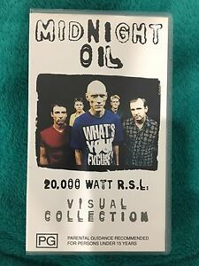 Midnight Oil 20,000 Watt RSL VHS video Cordeaux Heights Wollongong Area Preview