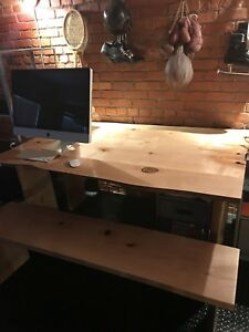 Live-Edge Harvest Kitchen Table