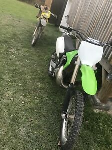 Racebuilt 2003 kx250 with tons of extras for sale/trade