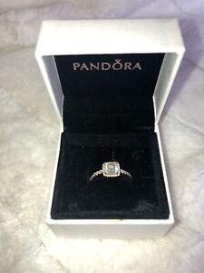 Pandora Ring: Timeless Elegance, 14k Gold & Clear Cubic Zirconia