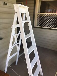 Upcycled Antique Timber Ladder Adamstown Newcastle Area Preview