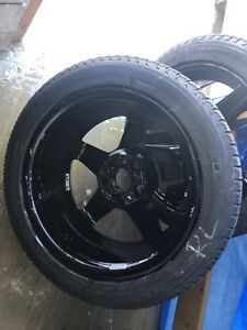 "17"" Black Mercedes Rims & Michelin Winter Tires (225 50 R17)"