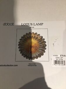 Lotus Lamp (new never used)