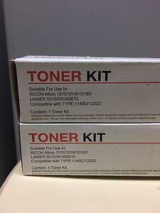 2x New RICOH Aficio 1015 Toner Kit Cartridges - Black Rochedale South Brisbane South East Preview