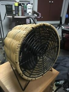 Small electric wicker fan with on/ off switch
