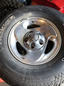 4 Dodge Ram 1500 rims and tires