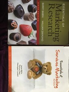 Humber College - Marketing Research & Marketing 2 textbooks