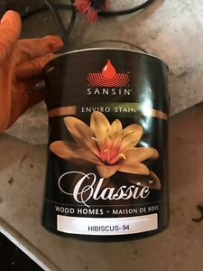3 gallons Sansin Classic stain color Hibiscus