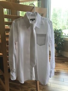 Boys Size 8 White dress shirt and tie