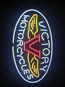 Victory Motorcycle Neon Sign