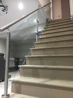 Custom Glass Railings interior and exterior