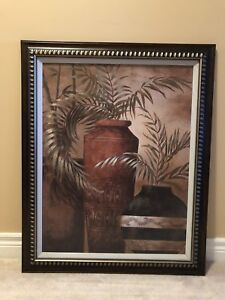 Framed Palm Trees Picture
