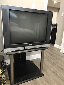 "27"" toshiba tv with stand."