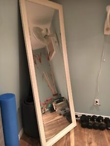 2 beautiful leaning mirrors (sold as pair)