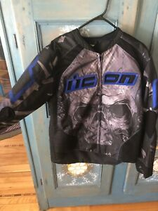Icon Overlord Reaver Jacket in Black and Blue
