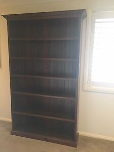 Solid dark chocolate wooden book shelf Mona Vale Pittwater Area Preview