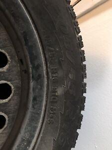 4Pneus 205/55 R16 hiver pirelli avec jante 5x114.3