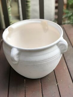 Large White Pot