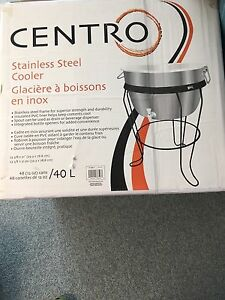 Stainless Steel Patio  40L Cooler - NIB