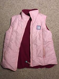 Pink fleece reversible vest