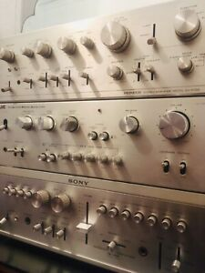 3x RARE STEREO AMPLIFIERS