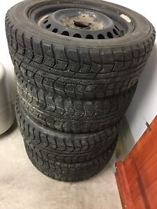195/55/15 Dunlop Winter Tires and Rims