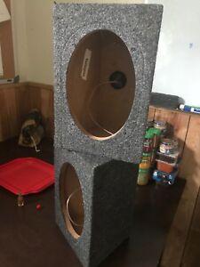 2  6x9 speaker boxes