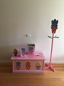 Wooden toy box and accessories Essendon Moonee Valley Preview