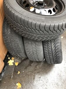 "Snow tires set 15"" with Rims"